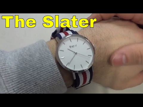 The Slater-The U Watch Co-Review-43mm With Nylon Strap