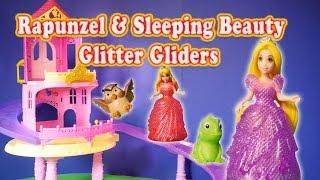 RAPUNZEL AND  PRINCESS Glitter Glider Castle Toys a  Princess Toy Video