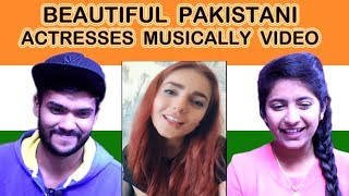 Indian reaction on BEAUTIFUL PAKISTANI ACTRESSES MUSICALLY VIDEO   Swaggy d
