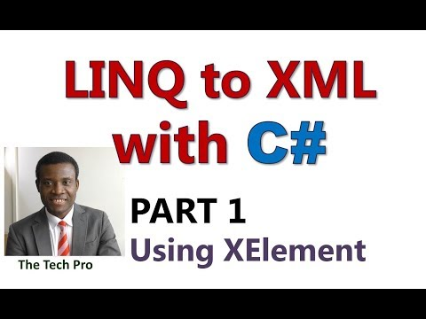 Linq to XML With C# Part 1: Read Xml Files With XElement