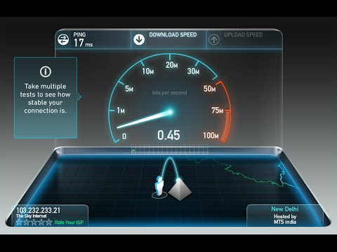 Internet Connection Speed Test 512Kbps (Local ISP) - Sky Internet