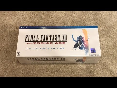 Final Fantasy XII 12 The Zodiac Age Collector's Edition PS4 Unboxing