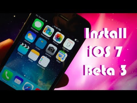 Install iOS 7 Beta 3 OTA - EASY!