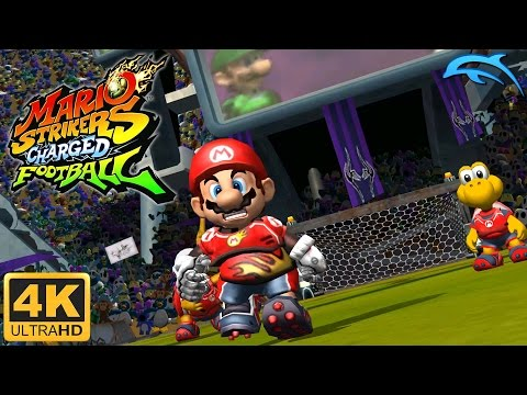 Mario Strikers Charged Football - Gameplay Wii 4K 2160p (Dolphin 5.0)