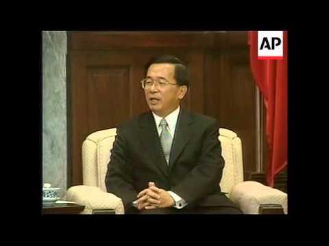 Taiwanese Pres calls Hong Kong chief exec a puppet of Beijing.