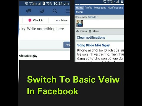 How To Switch Facebook In Basic Version View.