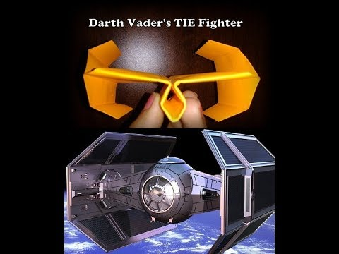 Darth Vader's TIE Fighter paper plane model (how to make)