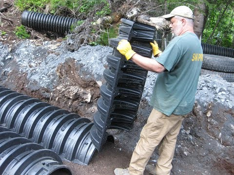 Homeowners Install Infiltrator Septic System in Alaska July 5-10 2017