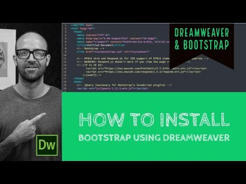How to install Bootstrap using Dreamweaver - Dreamweaver Tutorial [8/54]