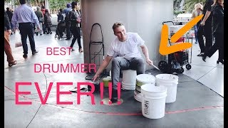 "Insane street performer - ""bucket boy"" Matthew Pretty"
