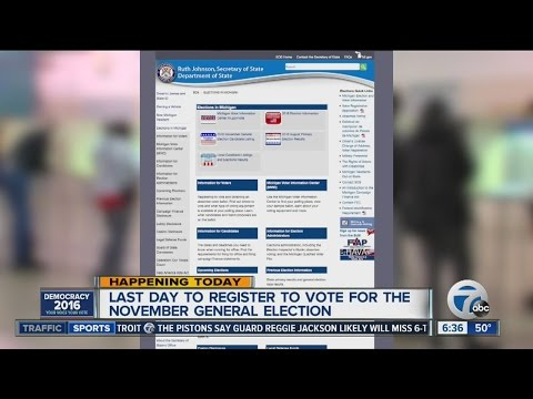 Last day to register to vote for the November Election