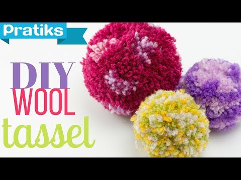 How to Make a Pompom or a Christmas Ball with Yarn