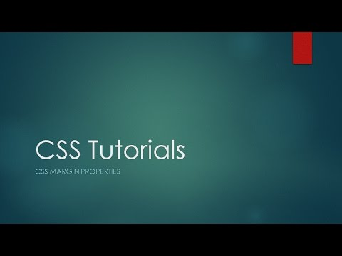 CSS Tutorials   CSS Margin Properties