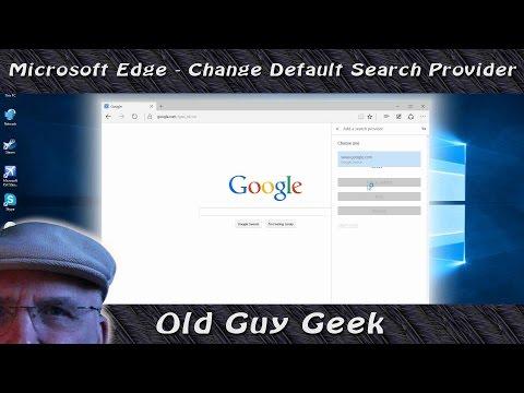 Microsoft Edge - Change Search Provider Default