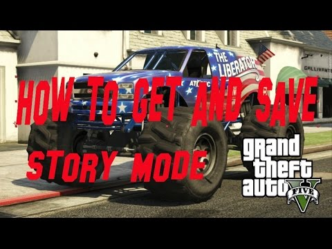 GTA 5 - How to get and save The Liberator Story Mode (Offline)