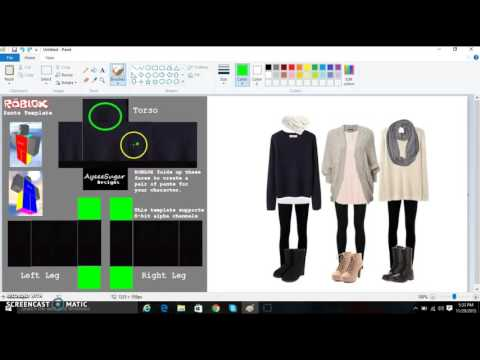 How to make clothes on roblox 2015 (OLD)