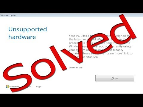 How to remove ,,unsupported hardware'' pop up [ Windows 7 ]