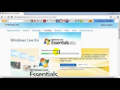 Descargar e instalar Windows live essentials 2011