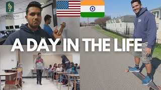 A Realistic College Day in the Life Of An INDIAN Student In USA!