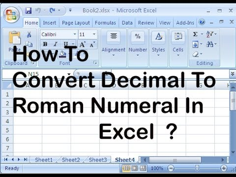 How To Convert Decimal To Roman Numeral In Excel