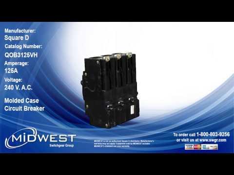 Square D QOB3125VH Circuit Breaker