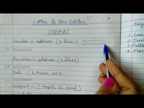 How to write Letter to the Editor in English - Format of Formal Letter