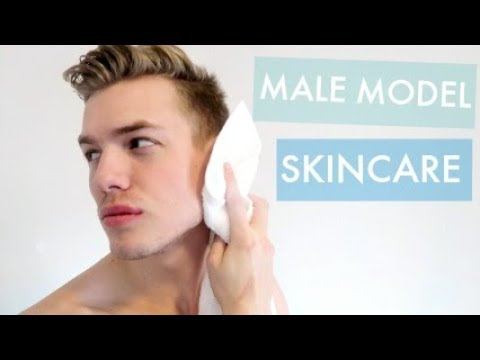 Male Model Morning Skincare Routine