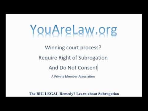 Stop A Court Case With One Question - Right to Subrogation