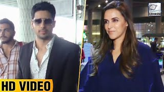 Celebs Spotted At Airport 21st August   Sidharth Malhotra, Neha Dhupia   Lehren TV