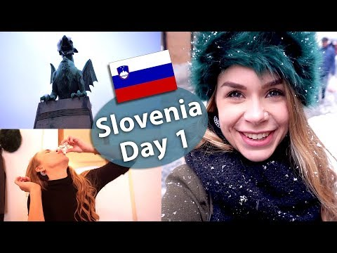 Slovenia Travel Vlog Day 1 - Ljubljana & Food
