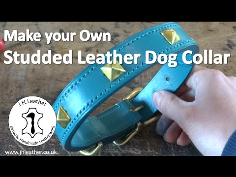 How to Make a Sudded Leather Dog Collar -Tutorial