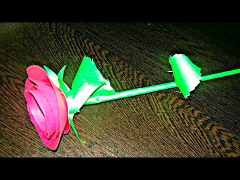 DIY CRAFT -Paper rose !! How to make perfect rose with paper|gift for him/her