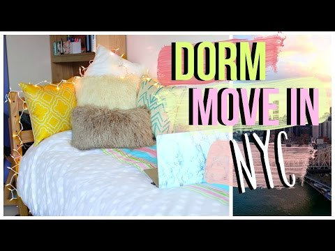 Moving Into My Dorm at NYU! | College Move In Day Vlog | JENerationDIY