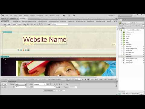 Changing the Navbar background image and color Dreamweaver