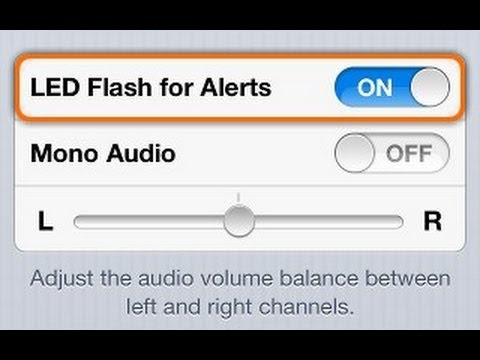 How to Turn on LED Flash Alert for Calls and Texts on iPhone