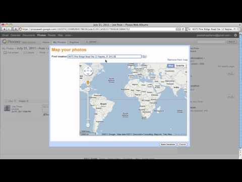 Geotagging photos in Picasa