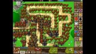 Bloons Tower Defense 4 Track 6, World, Hard Walkthrough