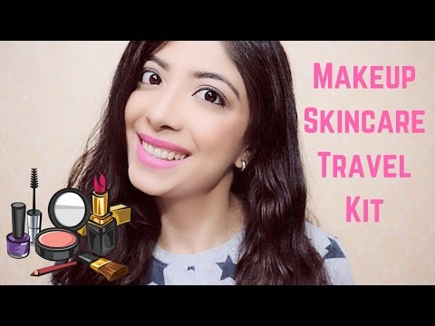 Whats in my Travel Skincare & Makeup Kit + Travel Makeup Tips    Bhawna Ahuja