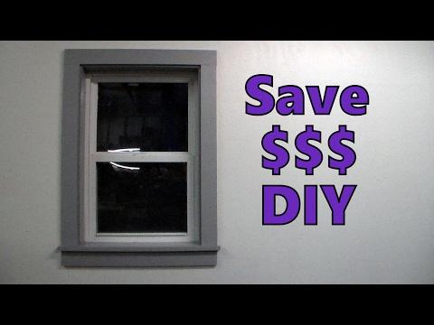 Cheap Easy DIY Window Door Trim