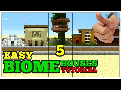 5 Small Biome Houses Minecraft! | Small Survival House Tutorial (9x9)