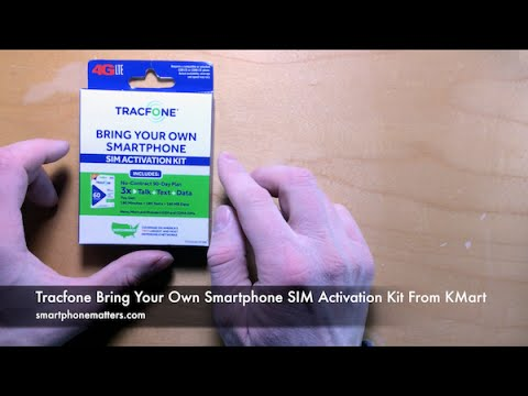 Tracfone Bring Your Own Smartphone SIM Activation Kit From KMart