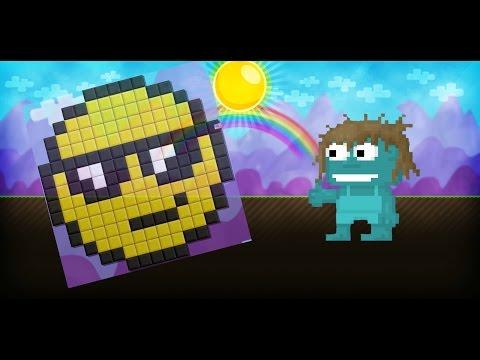 Growtopia - Emoticon Pixel Art Speed Build