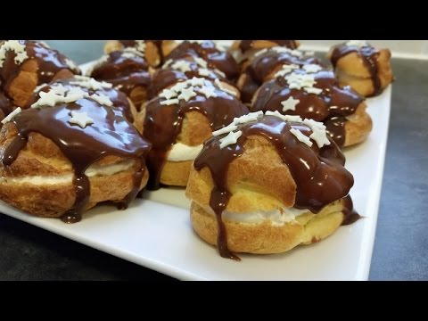 How to make Chocolate Profiteroles / Chocolate Eclairs from scratch