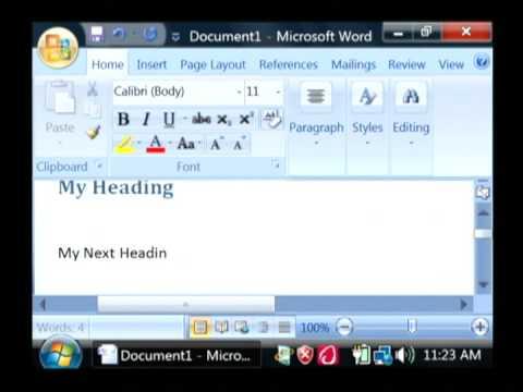 Computer Help : How to Make a Table of Contents in Word