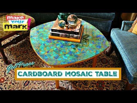 Cardboard Mosaic Table