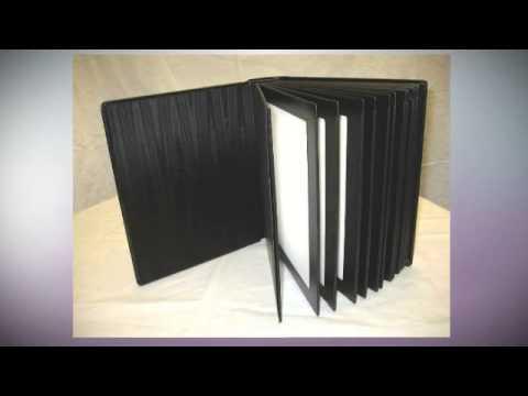 Elegant 8x10 BLACK Slip-in Wedding/Parent Photo Album holds