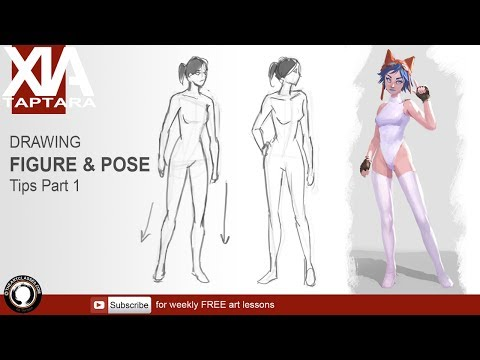 Drawing figure and pose tip part 1 natural poses