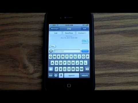 How to make your iphone keyboard go away!