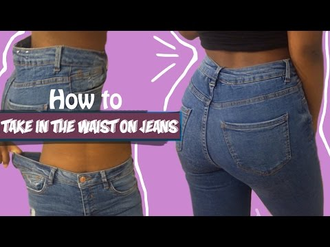How to take in the waist on a pair of jeans| FASHION FIX EP 6  |Birabelle |
