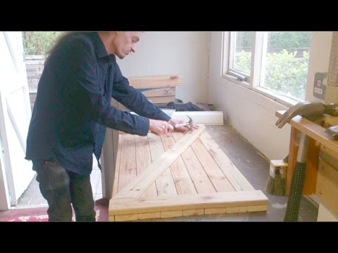 Building a new gas meter cupboard/cabinet using reclaimed materials and simple methods.